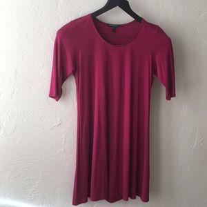 Eileen Fisher burgundy dress